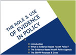 Evidence based health policy photo